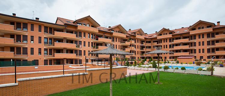 New housing development at Jaca in Northern Spain