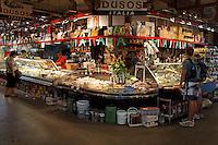 Duso's Italian deli in the Granville Island Public Market, Vancouver, British Columbia, Canada