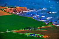 Aerial views, Northern coastline, Prince Edward Island, Canada