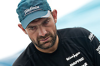 CHINA, Sanya. 4th February 2012. Volvo Ocean Race. Leg 3 Arrivals. Xabi Fernandez, trimmer, Team Telefonica.