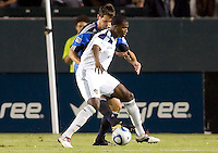 LA Galaxy forward Edson Buddle (14) moves with the ball. The LA Galaxy and the San Jose Earthquakes played to a 2-2 draw at Home Depot Center stadium in Carson, California on Thursday July 22, 2010.