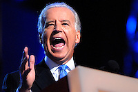 DENVER, CO - August 27, 2008: Democratic Vice President nominee Joe Biden speaking, at the 2008 Democratic National Convention at the Pepsi Center in Denver, Colorado.