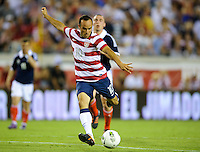 Jacksonville, FL - Saturday, May 26, 2012: Landon Donovan shoots on goal. The USMNT defeated Scotland 5-1 during an international friendly match.