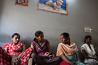 Surrogates in their daily lives, as they spend the entire pregnancy, in the surrogate's house in Anand, Gujarat, India on 11th December 2012. Photo by Suzanne Lee / Marie-Claire France