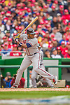 4 April 2014: Atlanta Braves outfielder Justin Upton in action during the Washington Nationals Home Opening Game at Nationals Park in Washington, DC. The Braves edged out the Nationals 2-1 in their first meeting of the 2014 MLB season. Mandatory Credit: Ed Wolfstein Photo *** RAW (NEF) Image File Available ***