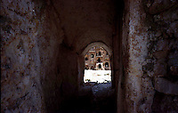 Libya     Nalut ..Berber granary with Ghorfas at Ksarr Qasr-al-Hadj Nafusah Mountains Libya