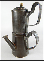 BNPS.co.uk (01202 558833)<br /> Pic: Golding,Young&amp;Mawer/BNPS<br /> <br /> A Victorian tin coffee percolator.<br /> <br /> A collection of quirky 100-year-old kitchen gadgets designed to make life easier for the Mary Berry of Victorian days have emerged for sale.<br /> <br /> Long before Kenwood Chef and KitchenAid were the must-have items, these unusual tools - which include mincers, chopping devices and a butter churn - were the forerunners.<br /> <br /> Unlike their popular modern counterparts, many of the tools were too expensive for most people to buy and were not highly reliable and so are rarely found today.<br /> <br /> The 25 kitchen items, which date from the late 19th and early 20th century, are being sold by Golding, Young &amp; Mawer auctionhouse and are expected to fetch thousands of pounds.