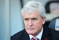 Stoke City manager Mark Hughes <br /> <br /> Photographer Kevin Barnes/CameraSport<br /> <br /> The Premier League - Swansea City v Stoke City - Saturday 22nd April 2017 - Liberty Stadium - Swansea<br /> <br /> World Copyright &copy; 2017 CameraSport. All rights reserved. 43 Linden Ave. Countesthorpe. Leicester. England. LE8 5PG - Tel: +44 (0) 116 277 4147 - admin@camerasport.com - www.camerasport.com