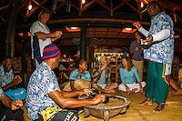 Namotu Island Resort, Fiji. (Thursday, May 31, 2012) Adrian Buchan (AUS)  enjoying Kava Night on Namotu Island. -   Strong winds and a very messy ocean meant no surfing today. Photo: joliphotos.com