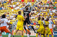 24 JULY 2010:  during MLS soccer game between Houston Dynamo vs Columbus Crew at Crew Stadium in Columbus, Ohio on July 3, 2010. Columbus defeated the Dynamo 3-0.