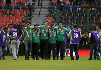 MEXICO CITY, MEXICO - AUGUST 15, 2012:  Members of  Mexico Olympic gold medal team honored at half time during an international friendly match against the USA at Azteca Stadium, in Mexico City, Mexico on August 15. USA won 1-0.