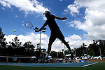 09 May 2015: Mate Cutura (BIH). The University of North Carolina Tar Heels hosted the Mississippi State University Bulldogs at Cone-Kenfield Tennis Center in Chapel Hill, North Carolina in a 2015 NCAA Division I Men's Tennis Tournament Second Round match. UNC won the match 4-1.