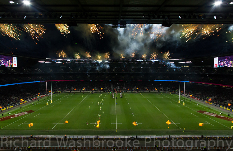 Pyro1  Twickenham  Harlequins vs Northants  27th December 2014<br /> <br /> Photo: Richard Washbrooke Sports Photography