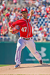 8 June 2013: Washington Nationals pitcher Gio Gonzalez on the mound against the Minnesota Twins at Nationals Park in Washington, DC. The Twins edged out the Nationals 4-3 in 11 innings. Mandatory Credit: Ed Wolfstein Photo *** RAW (NEF) Image File Available ***