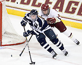 Raylen Dziengelewski (UNH - 15), Taylor Wasylk (BC - 9) - The Boston College Eagles and the visiting University of New Hampshire Wildcats played to a scoreless tie in BC's senior game on Saturday, February 19, 2011, at Conte Forum in Chestnut Hill, Massachusetts.
