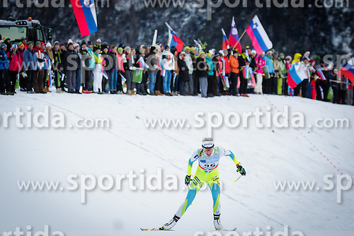 Anamarija Lampic (SLO) during Ladies 1.2 km Free Sprint Qualification race at FIS Cross<br /> Country World Cup Planica 2016, on January 16, 2016 at Planica,Slovenia. Photo by Ziga Zupan / Sportida