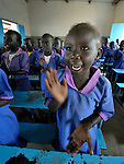 Students sing a song in a Catholic school in Malakal, Southern Sudan. NOTE: In July 2011 Southern Sudan became the independent country of South Sudan.