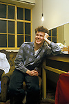 Stuart Adamson  Big Country on tour Scotland. In his dressing room.