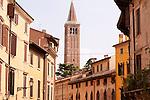 Street scene in Verona, Italy.