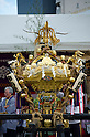 September 26th, 2011 : Tokyo, Japan - Japanese rocal festival is held at the Yoyogi park in Shibuya, Tokyo. People carry this divine palanquin as a traditional event of Japan carrying a god from shrine to shrine. (Photo by Yumeto Yamazaki)