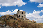 Photo shows the crumbled remains of the village of Gibellina in the northwestern part of Sicily, Italy, which was destroyed by an earthquake in 1968. The village remains as it was, while a new, ultra-modernist town was constructed for surviving residents 10 km away..