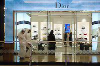 United Arab Emirates, Dubai, Customers at boutique, shopping mall
