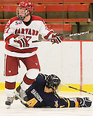Eric Kroshus (Harvard - 10), Danny Fick (Harvard - 7) - The visiting Quinnipiac University Bobcats defeated the Harvard University Crimson 3-1 on Wednesday, December 8, 2010, at Bright Hockey Center in Cambridge, Massachusetts.