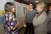 Public Health Poster Session. Class of 2015. Colleen Kerrigan, left, James McAvoy, Paula Tracy, Ph.D.
