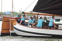 ZEILEN: LEMMER: Lemster baai, 31-07-2014, SKS skûtsjesilen, skûtsje Eildert Sietez, Akkrum, schipper Pieter Meeter, ©foto Martin de Jong