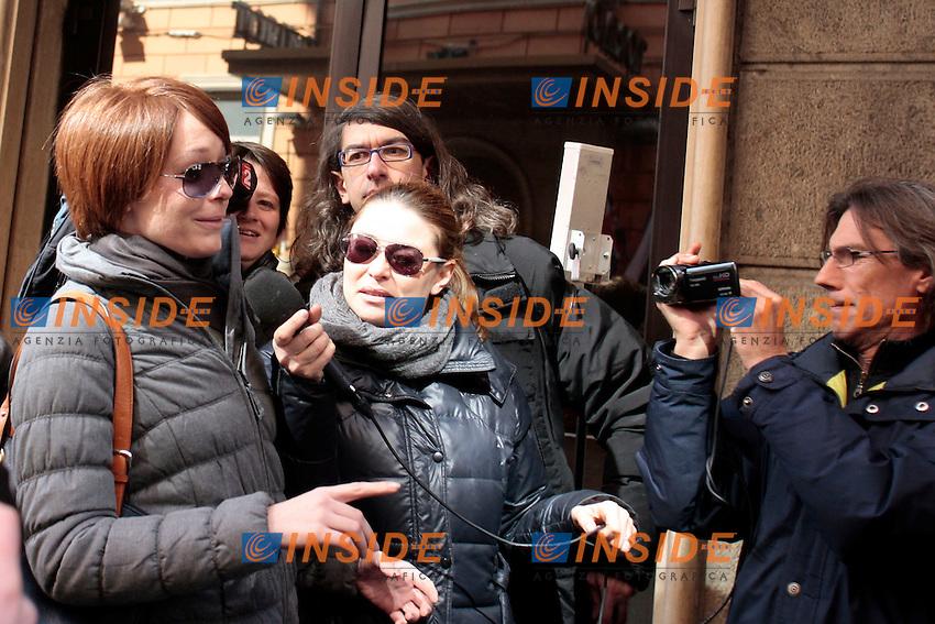 Marta Grande.Roma 04/03/2013 Hotel Universo. Vertice del Movimento 5 Stelle.Photo Samantha Zucchi Insidefoto