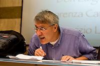 Roma 8 Settembre 2013<br /> Assemblea  in difesa della Costituzione.<br /> Maurizio Landini, segretario generale Fiom-Cgil