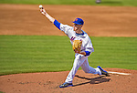23 February 2013: New York Mets' pitcher Zack Wheeler on the mound during a Spring Training Game against the Washington Nationals at Tradition Field in Port St. Lucie, Florida. The Mets defeated the Nationals 5-3 in their Grapefruit League Opening Day game. Mandatory Credit: Ed Wolfstein Photo *** RAW (NEF) Image File Available ***