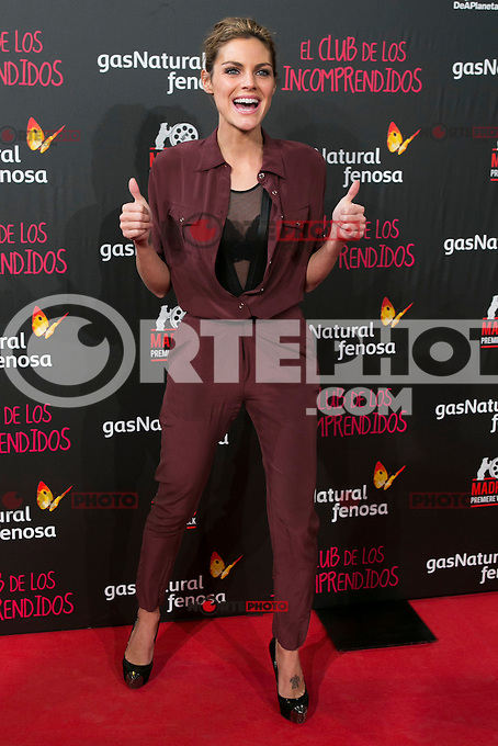 Amaia Salamanca attend the Premiere of the movie &quot;El club de los incomprendidos&quot; at callao Cinema in Madrid, Spain. December 1, 2014. (ALTERPHOTOS/Carlos Dafonte) /NortePhoto<br />
