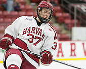 Desmond Bergin (Harvard - 37) - The Harvard University Crimson defeated the visiting Rensselaer Polytechnic Institute Engineers 5-2 in game 1 of their ECAC quarterfinal series on Friday, March 11, 2016, at Bright-Landry Hockey Center in Boston, Massachusetts.