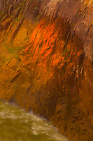 Wet granite walls at sunset<br /> Augrabies Falls National Park, South Africa<br /> One of the world's largest granite gorges<br /> Northern Cape Region