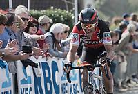 Greg Van Avermaet (BEL/BMC) fighting up the Taaienberg<br /> <br /> 101th Ronde Van Vlaanderen 2017 (1.UWT)<br /> 1day race: Antwerp &rsaquo; Oudenaarde - BEL (260km)