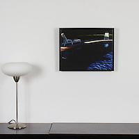 "Ness: Our Last Conversation, Digital Print, Image Dims. 14"" x 18"", Framed Dims. 14.5"" x 18.5"""