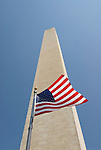 Washington DC USA: The Washington Monument and American flag.Photo copyright Lee Foster Photo # 2-washdc82412