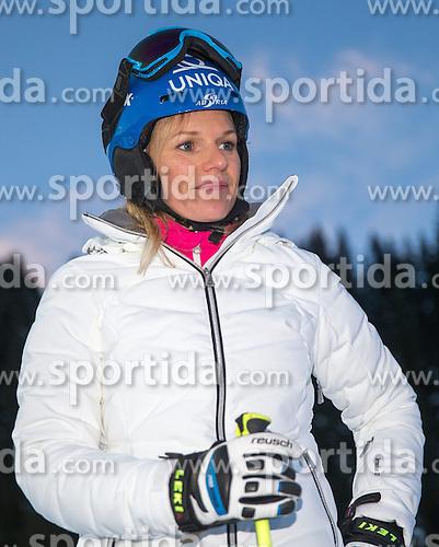 13.01.2015, Hermann Maier Weltcupstrecke, Flachau, AUT, FIS Weltcup Ski Alpin, Flachau, Slalom, Damen, Kursbesichtigung, im Bild Marlies Schild (AUT) // Austrian former ski racer Marlies Schild during the course inspection for the ladie's Slalom of the FIS Ski Alpine World Cup at the Hermann Maier Weltcupstrecke in Flachau, Austria on 2015/01/13. EXPA Pictures © 2015, PhotoCredit: EXPA/ JOHANN GRODER
