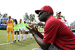 06 September 2015: USC head coach Keidane McAlpine. The University of North Carolina Tar Heels played the University of Southern California Trojans at Koskinen Stadium in Durham, NC in a 2015 NCAA Division I Women's Soccer match. UNC won the game 2-1.