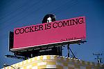 Joe Cocker billboard on the Sunset Strip in Los Angeles, CA, circa 1969