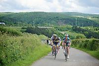 Matteo Trentin (ITA) leading up La Redoute (max 22%)<br /> <br /> 2013 Ster ZLM Tour <br /> stage 4: Verviers - La Gileppe (186km)