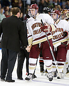 Kevin Hayes (BC - 12), (Alber, Milner) - The Boston College Eagles defeated the Northeastern University Huskies 5-4 in their Hockey East Semi-Final on Friday, March 18, 2011, at TD Garden in Boston, Massachusetts.