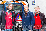 Mike sandover, Christy McCarthya nd Paddy Riordan at the Kerry Mountain 50th anniversary open day in Killarney on Saturday