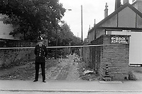 Pix: Barry Wilkinson/SWpix.com. The Yorkshire Ripper Archive. 14th May 1979 - 11th May1980...COPYRIGHT PICTURE>>SIMON WILKINSON>>0870 092 0092>>..Murder Scene...where Barbara Leach's body was found.