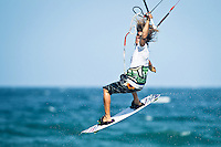 The last leg of the 2010 PKRA World Kiteboarding Tour has come to the Gold Coast, Australia - Tom Hebert from New Caledonia in action on his way to winning the single elimination freestyle final.