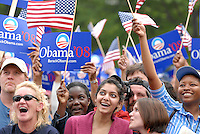ATLANTA, GA - April 14, 2007:  The crowd at Barack Obama's  speach at Georgia Tech in Atlanta, Georgia.