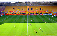 Players of team Brazil at a training session during the FIFA Women's World Cup at the FIFA Stadium in Dresden, Germany on July 9th, 2011.