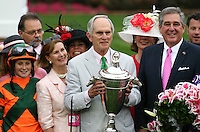 May 4, 2012. Brereton Jones after Believe You Can and Rosie Napravnik win the Kentucky Oaks at Churchill Downs in Louisville, KY