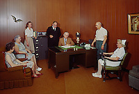 Evangelical Manor Lewiston, PA. Meeting in the administrators office 1959